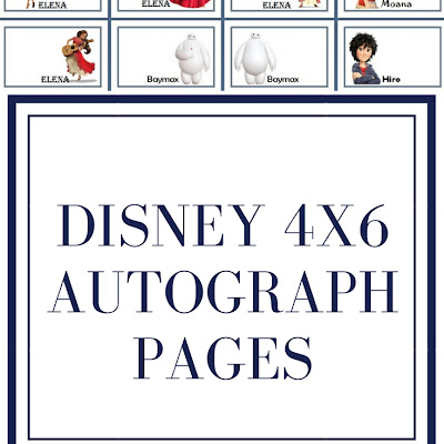 picture about Free Printable Autograph Pages titled Disney 4x6 Autograph Internet pages - Eternally My Tiny Moon