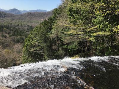 湯滝の最上部