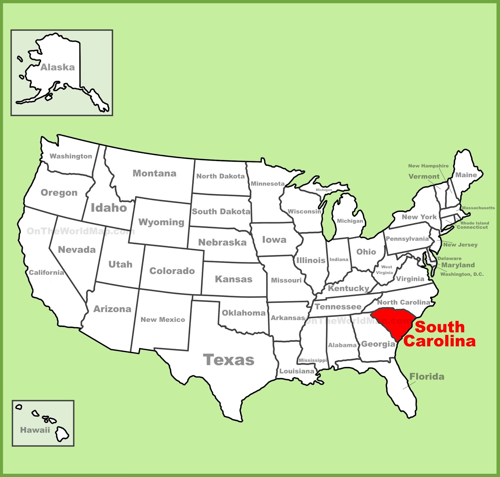 Map Of South Carolina State Map Of United States - United states map illinois
