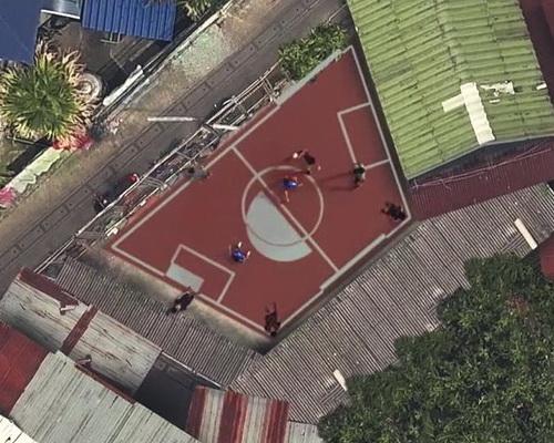 Studio AP Thailand created the world's first non-rectangular football field in Bangkok