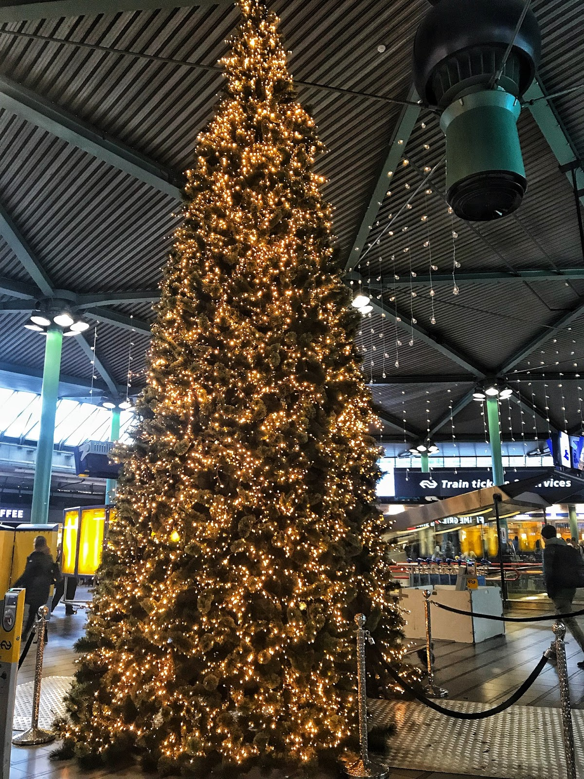 Christmas at Amsterdam Schiphol Airport