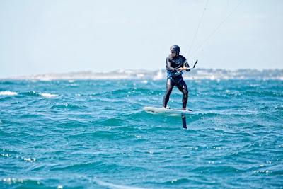 Mayeul Riffet en kite surf