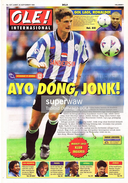 JONK WEDNESDAY VS ARSENAL 1998