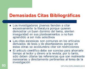 Demasiadas citas bibliográficas