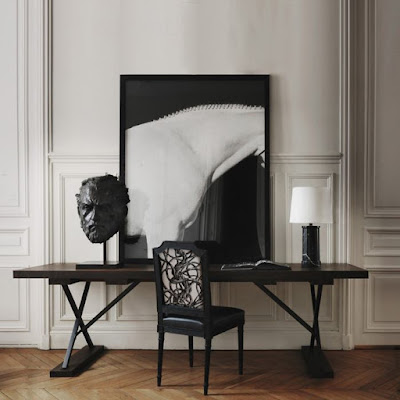 gilles and boissier Dante Chair and Ida lamp via belle vivir blog