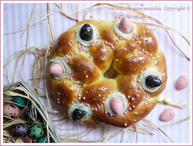 brioche, fleur d'oranger, lou chaudèu, nice, oeufs, Pâques, tradition niçoise, échaudé