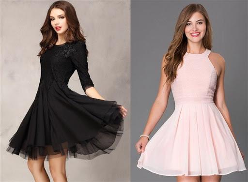 dress pendek kombinasi brokat