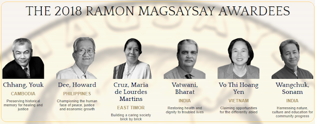 List of Ramon Magsaysay Award Winners 2018