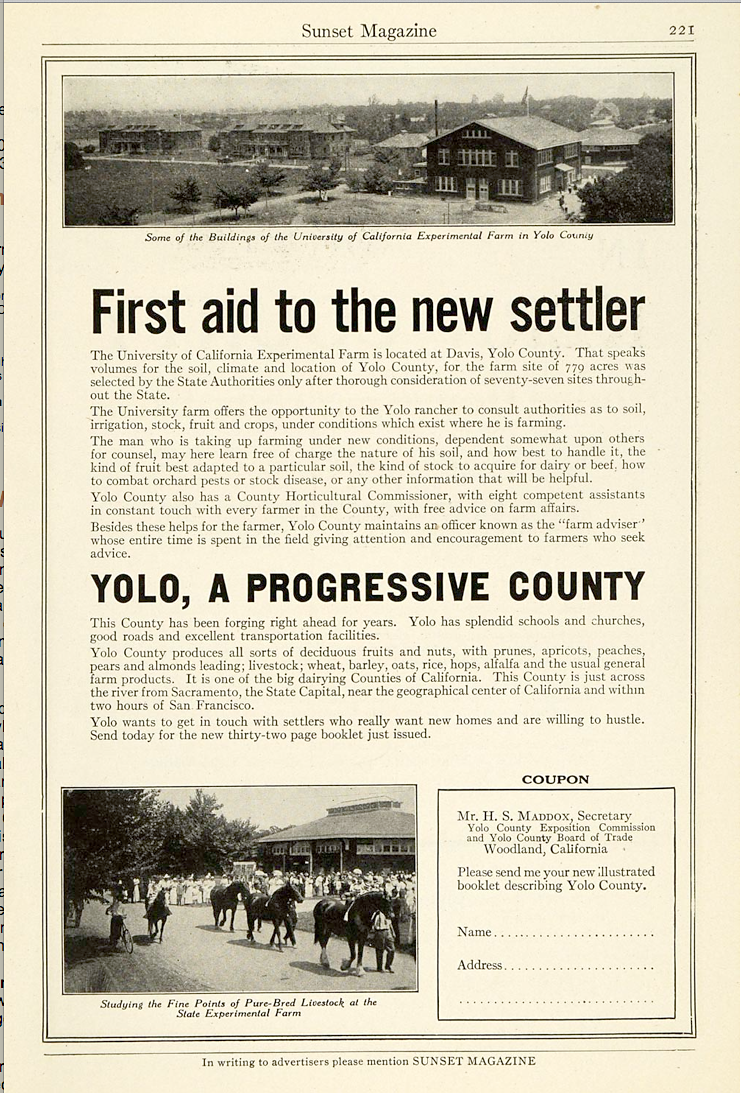 Davis History Today: Davis & Yolo-Solano Life in the 1910s