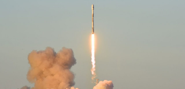 SpaceX launches the Iridium-5 mission into space from Vandenberg Air Force Base in California. Photo Credit: 30th Space Wing
