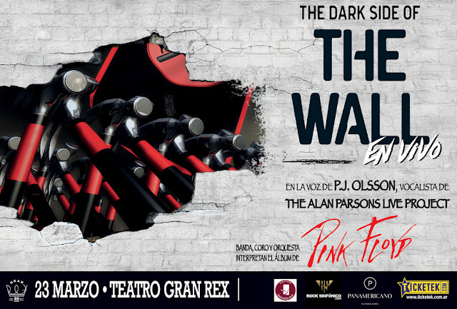"Regresa a la Argentina ""THE DARK SIDE OF THE WALL"", en la voz de P.J. OLSSON, vocalista líder de ""THE ALAN PARSONS LIVE PROJECT"""