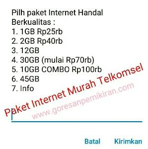Cara daftar paket internet murah Telkomsel terbaru