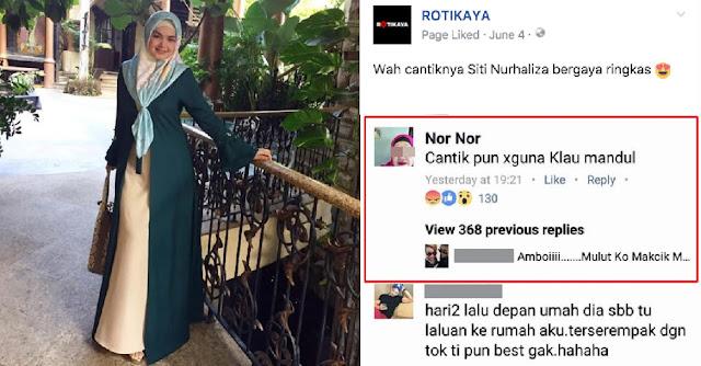 """""""Makcik mulut puaka"""" - Peminat berang Datuk Siti dihina"""