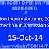 Admission Inquiry Autumn, 2014 - AIOU