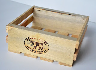 Repurposed wood crate for Halloween Treat Box by Wendy Sue Anderson for Doodlebug Design