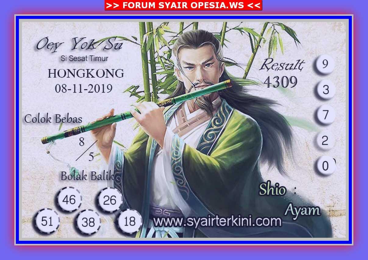Kode syair Hongkong Jumat 8 November 2019 39