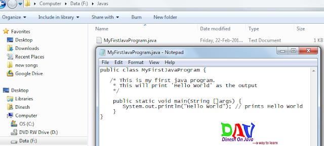 Hello World Example in Java