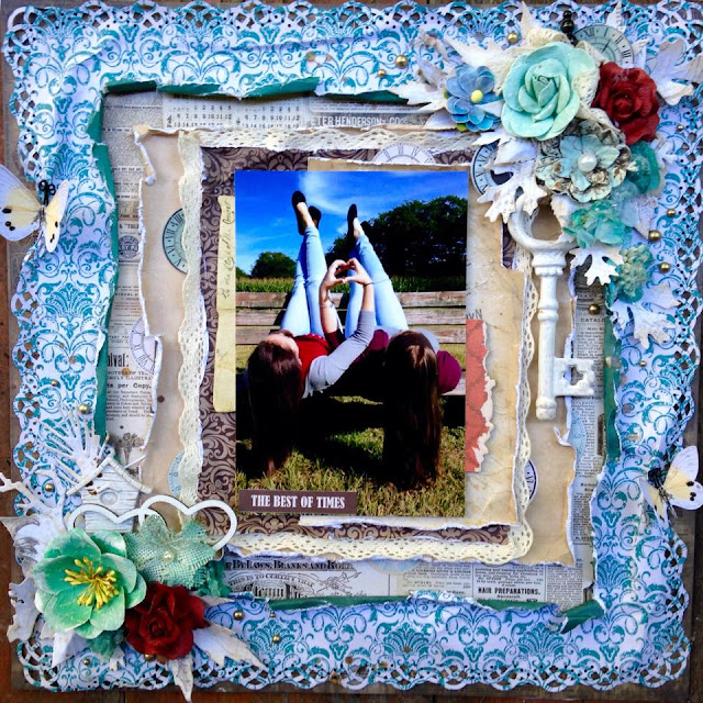 shabby chic friends layout