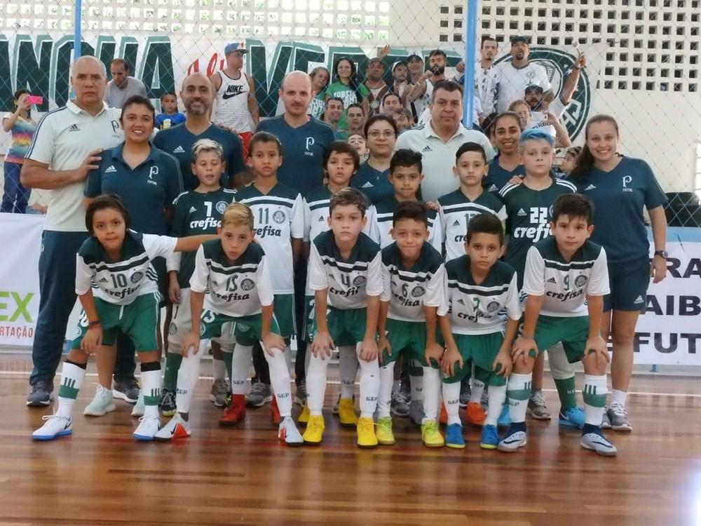b1601fe62e SE Palmeiras (SP) Campeã da Taça Brasil Sub-9 Masculina de Futsal de 2018.  Competição ...