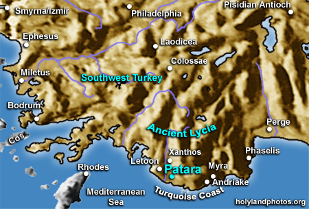 PATARA MAP