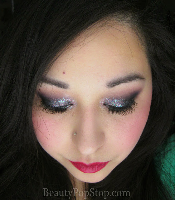 dark smoky new year's even look using lit cosmetics glitter sugar and spice