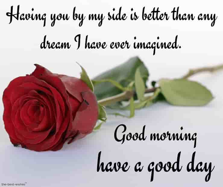 good morning love messages for girlfriend with red rose