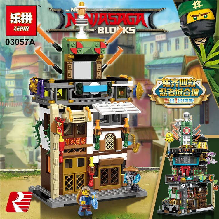 Downtheblocks Lepin 03057 Tlnm Custom Ninjago City
