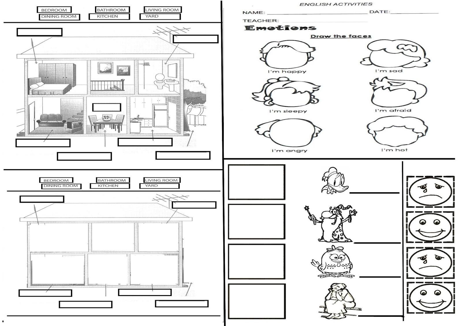 Folhinha De Ingles Com Figuras Separadas Por Bimestre 1o