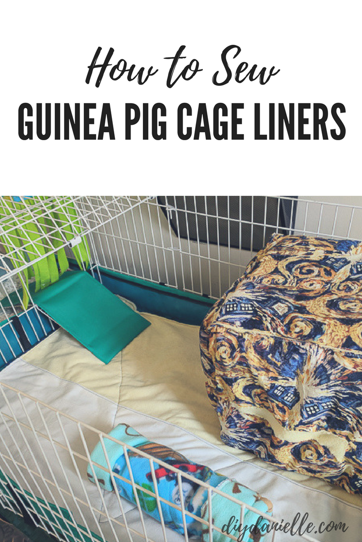 These easy to sew DIY guinea pig cage liners are easy to wash and reuse.