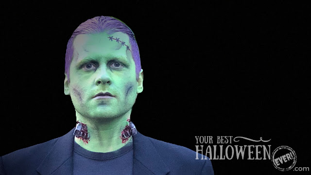 Makeup by Devin Przygoda, best easy Frankenstein makeup, classic movie monster makeup Halloween costume