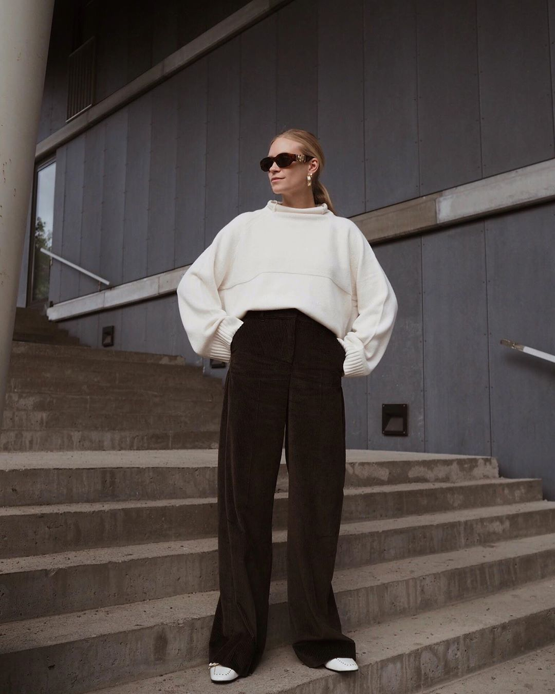 '70s Style Corduroy Pants – Tine Andrea, Fall Winter Outfit Idea
