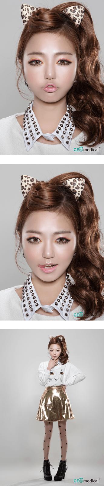 geo holicat barbie cat hazel - Colored Contacts Hazel