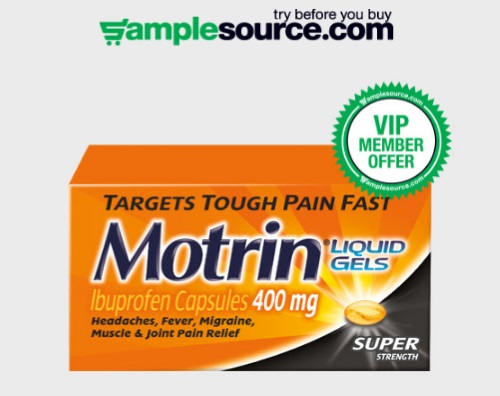 Samplesource VIP Free Sample Motrin