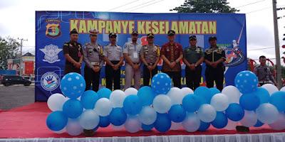 Polres Lampung Timur Gelar Kampanye Keselamatan Berkendara