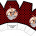 Pin Up in Black with Red Polka Dots: Free Printable Boxes.