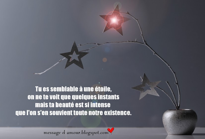 Message d'amour: Tu es l'étoile de ma vie
