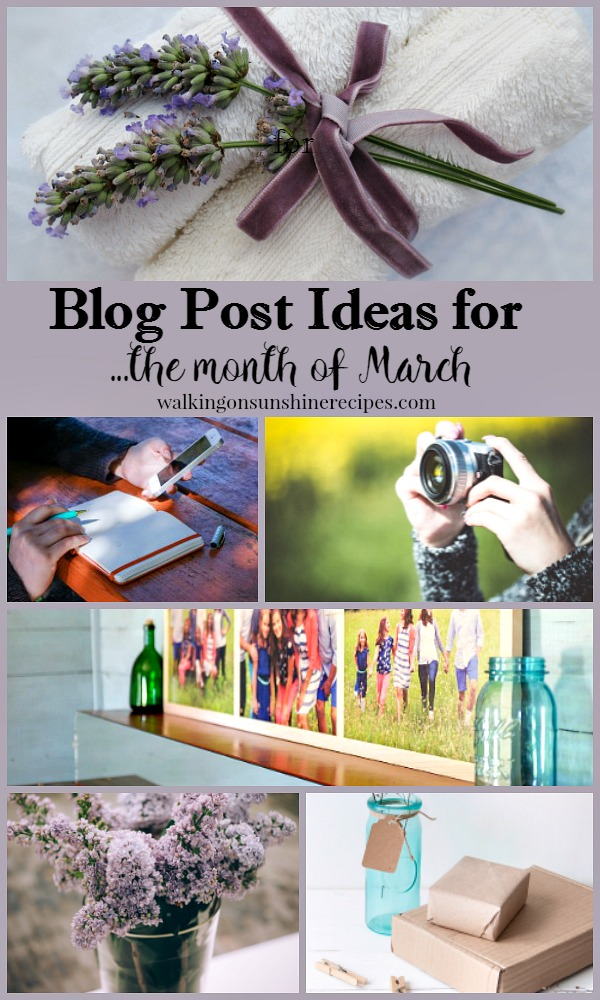 What to write about in March and other blog tips from Walking on Sunshine.