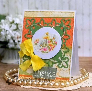 Lovely Linda's Craft Central!!: Spellbinders Thanks a Bunch