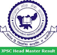 JPSC Head Master Result