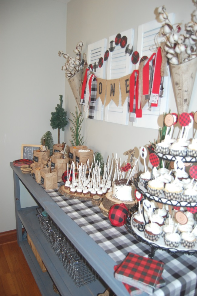for Lauren and Lauren Isaacs Lumberjack birthday party