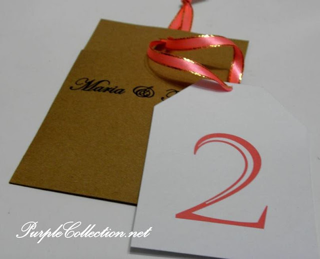 Tree tag for table number