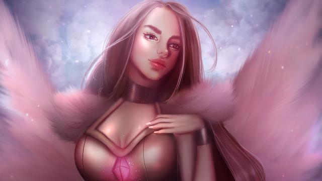 Vanity Angel - Digital Painting Art