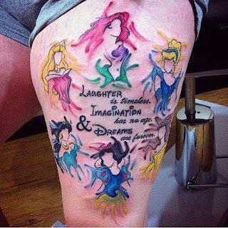 Tatuaje de princesas de Disney
