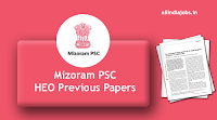 Mizoram PSC Horticulture Extension Officer Previous Papers