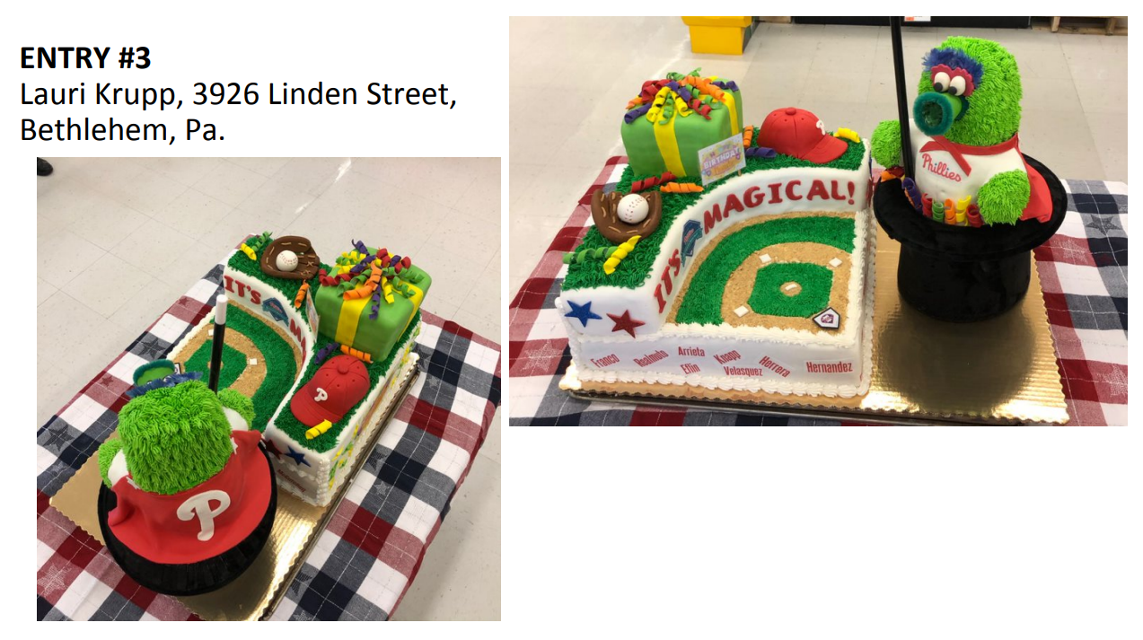 Update: Top Three Finalists GIANT Food Store Cake Contest for