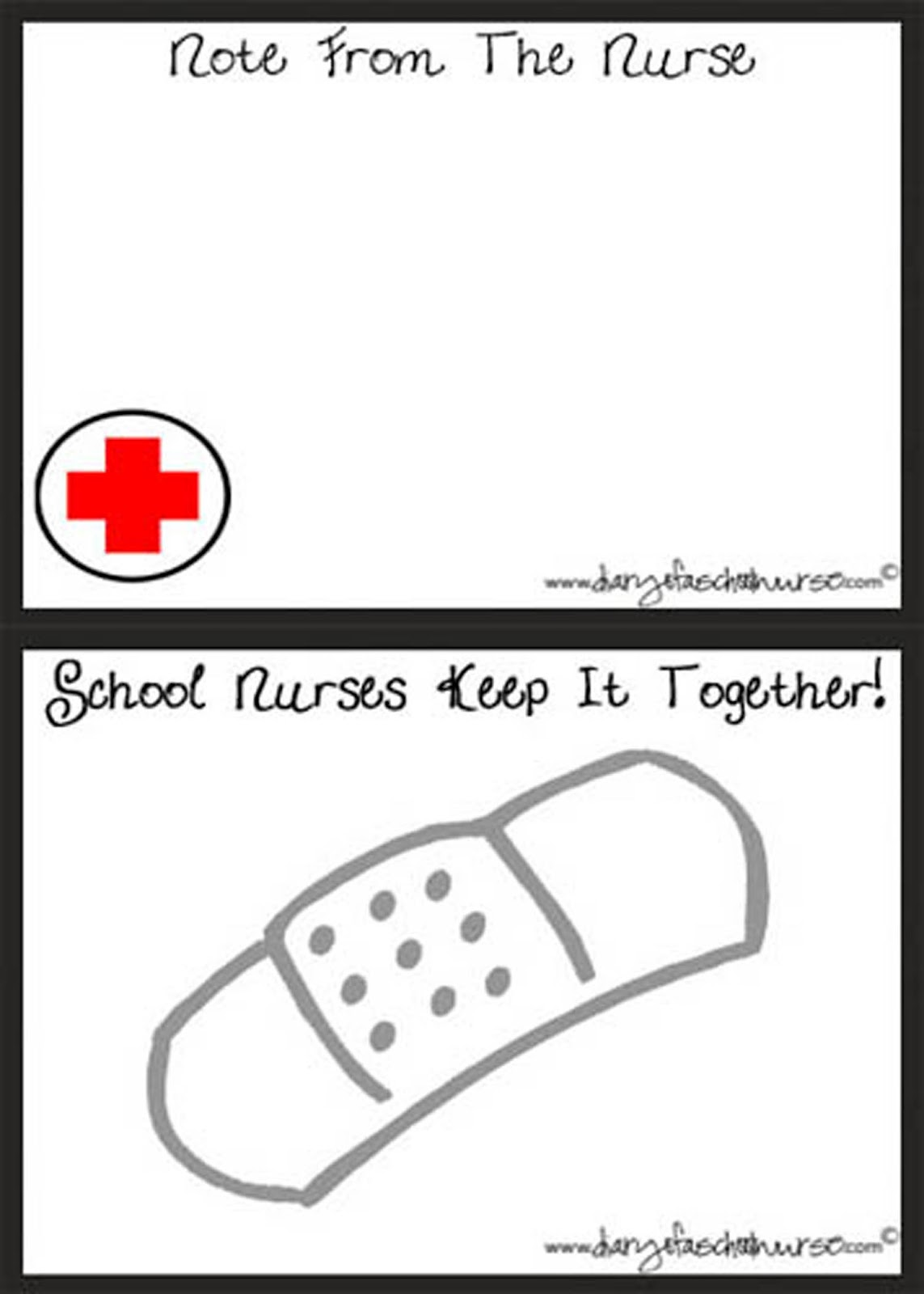 Diary Of A School Nurse: School Nurse Note Cards