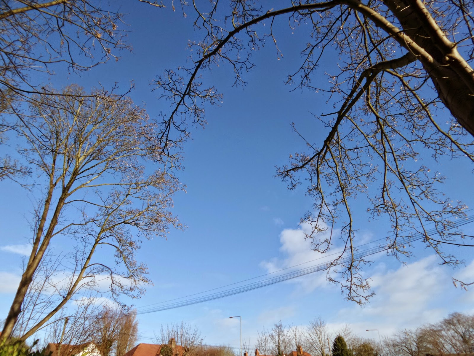 Blue Skies over Milton Keynes... just before the snow!