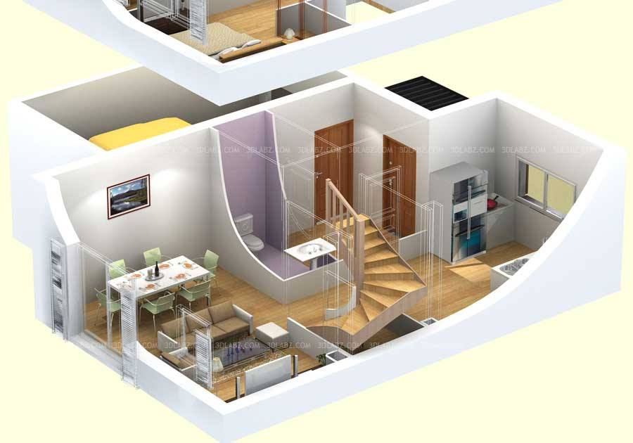 Home decor 20 3d house plans designs Home design 3d