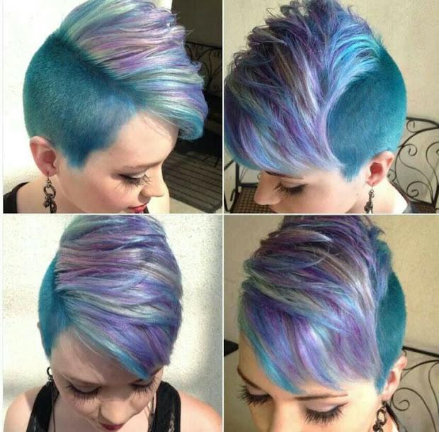 colorful short haircuts