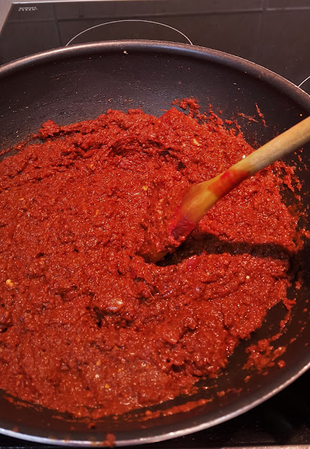 spice paste for goan dried prawn balchao